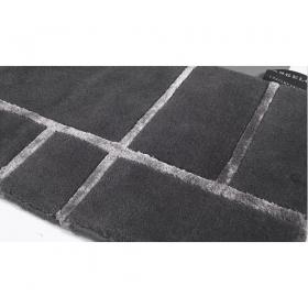 tapis bali angelo gris foncé noué main en laine