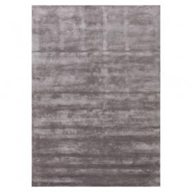 tapis annapurna en viscose gris foncé - angelo