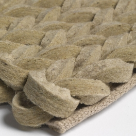 tapis angelo highland beige en laine tissé main
