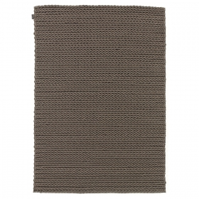 tapis en laine highland marron angelo tissé main