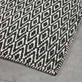 tapis moderne mic-mac noir - angelo