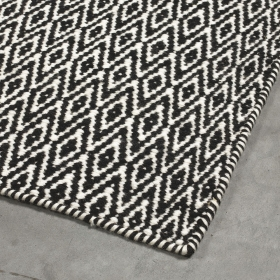 tapis moderne mic-mac angelo noir