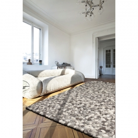 tapis on the rocks laine gris - angelo
