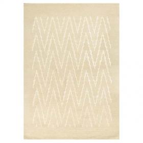 tapis blanc en laine et viscose paris ikat angelo