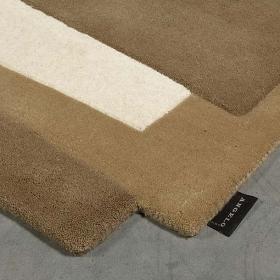 tapis en laine pebbles beige et taupe angelo
