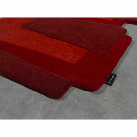 tapis de couloir design pebbles rouge angelo