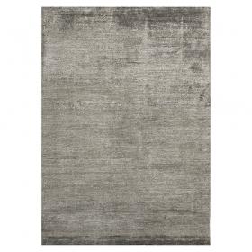tapis noué main silky gris foncé angelo