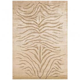 tapis silky beige motif havane angelo