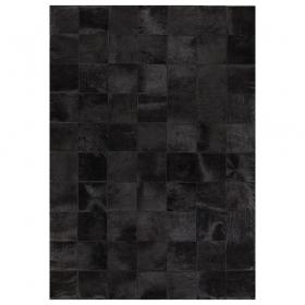 tapis starless patchwork uni en cuir noir angelo