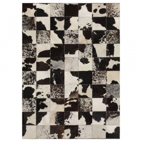 tapis patchwork cuir starless motif vache angelo