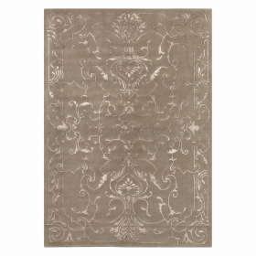 tapis sydney en laine taupe motif baroque angelo