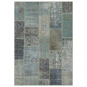 tapis de couloir up-cycle bleu angelo