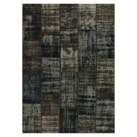 tapis gris foncé angelo up cycle