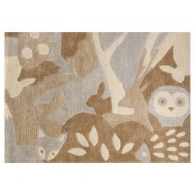 tapis enfant foret marron art for kids