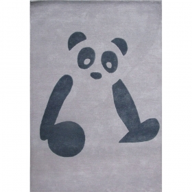 tapis enfant gris panda art for kids