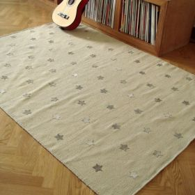 tapis beige enfant etoiles art for kids