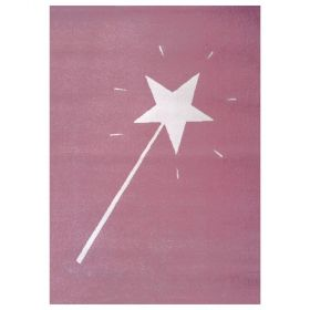 tapis enfant magic wand rose art for kids