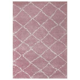 tapis enfant nomad rose art for kids à poils longs