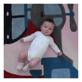 tapis enfant voyage bleu art for kids