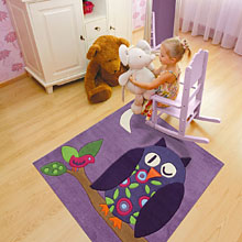 tapis enfant hibou carré arte espina