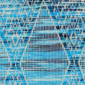 tapis stracciatella turquoise arte espina tissé main