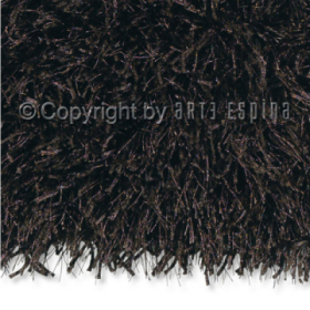 tapis shaggy beat marron foncé arte espina tufté main