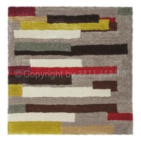 tapis carré shaggy dance multicolore arte espina