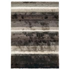 tapis gris et blanc shaggy funky arte espina