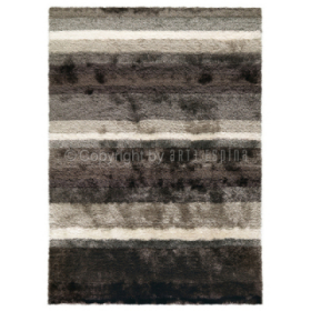 tapis shaggy funky gris et blanc arte espina