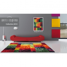 Tapis shaggy carr - Tapis carres multicolores ...