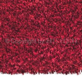 tapis carré shaggy soul rouge arte espina