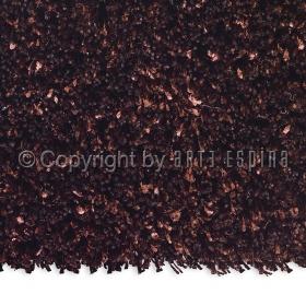 tapis rond shaggy marron arte espina soul