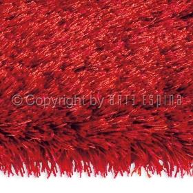 tapis shaggy rouge arte espina swing