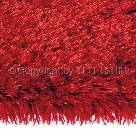 tapis shaggy carré swing rouge arte espina