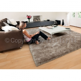 tapis shaggy taupe arte espina swing