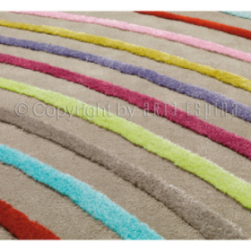 tapis blues multicolore arc-en-ciel arte espina