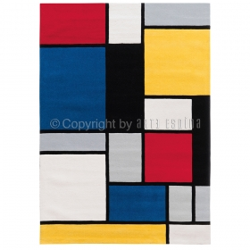 tapis coloured cubes multicolore arte espina