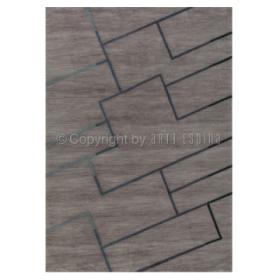 tapis sensor arte espina tufté main gris brun