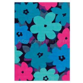 tapis arte espina bloom bleu tufté main