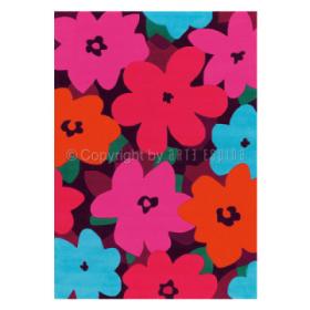 tapis arte espina bloom rose tufté main