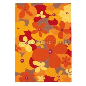 tapis orange arte espina colourful summer