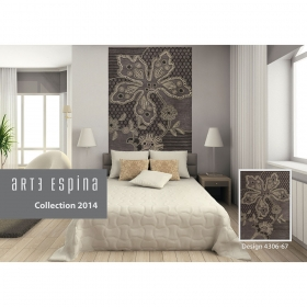 tapis floral finesse gris arte espina