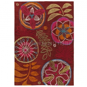 tapis floral tropical passion rouge arte espina