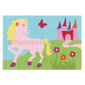 tapis enfant kids cheval rose arte espina