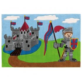 tapis enfant chevalier multicolore arte espina