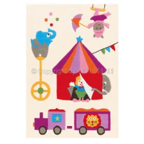 tapis enfant kids cirque arte espina