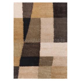 tapis marron shaggy jazz arte espina