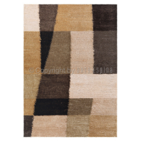 tapis arte espina shaggy jazz marron