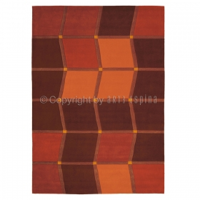 tapis arte espina brownies brun et orange