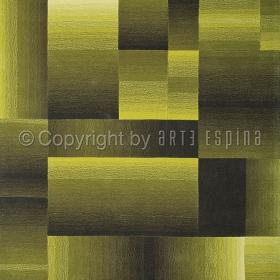 tapis carré digiworld vert arte espina